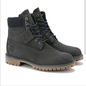 Grey Timberland 6 inch waterproof boot